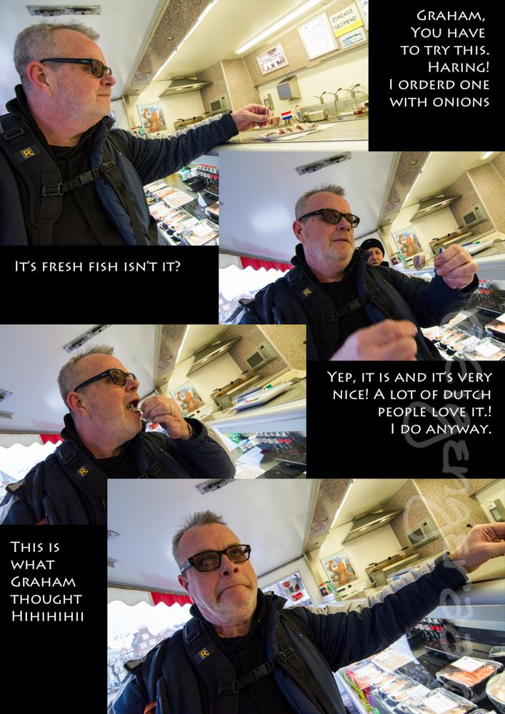 Graham eats haring